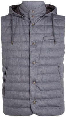 Herno Silk-Cashmere Hooded Eco Gilet