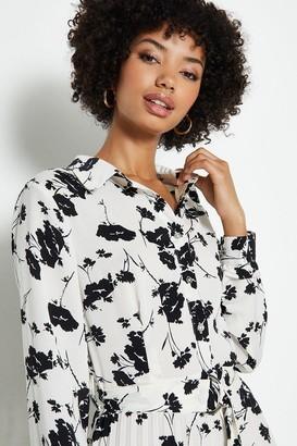 Coast Printed Pleat Shirt Dress