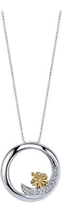 Disney Lilo & Stitch Ohana Means Family Diamond Necklace