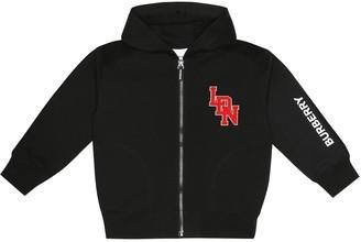 BURBERRY KIDS Cotton zip-front hoodie