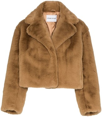 Stand Studio Janet faux fur cropped jacket