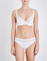 Triumph Amourette Spotlight lace and mesh underwired bra