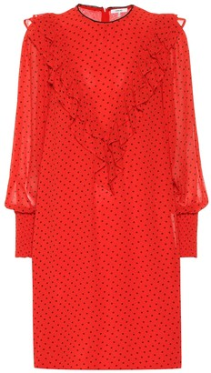 Ganni Polka-dot georgette dress