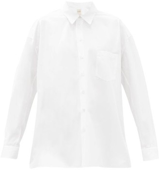 Zanini - Gathered-sleeve Cotton-poplin Shirt - White