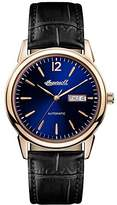 Ingersoll Men's Automatic Stainless Steel and Leather Casual Watch, Color:Black (Model: I00504)