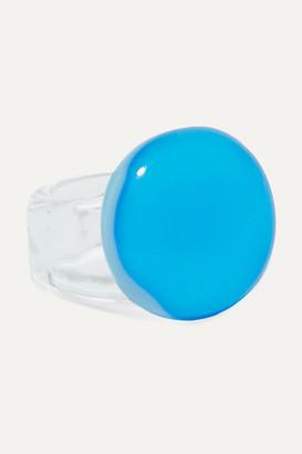 Maryam Nassir Zadeh Circle Glass Ring - Turquoise