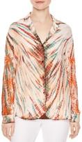 Sandro Goa Embellished Silk Shirt
