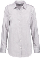 Equipment Essential Striped Cotton-Poplin Shirt