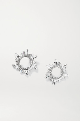 Amina Muaddi Begum Silver-tone Crystal Earrings