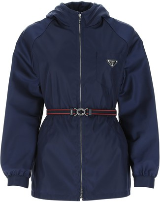 Prada Belted Hooded Jacket