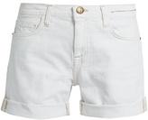 Current/Elliott The Slouchy frayed-cuff denim shorts