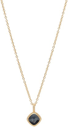 Anna Beck 18K Gold Plated Sterling Silver Cushion Hematite Pendant Necklace