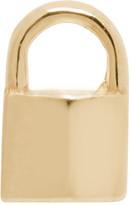 Lauren Klassen Gold Tiny Padlock Earring