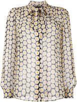 Love Moschino daisy embroidered shirt - women - Viscose - 40