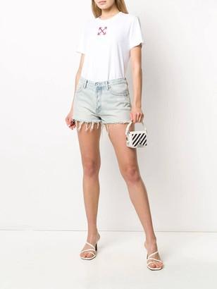 Off-White Bleached Denim Shorts