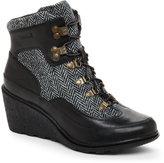 Timberland Black Amston Hiker Wedge Boots