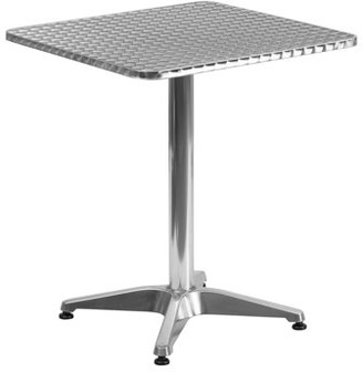 """Flash Furniture 23.5"""" Square Aluminum Indoor-Outdoor Table with Base"""