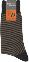 Dore Dore Diagonal striped cotton socks