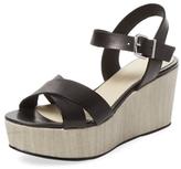 Leather Crisscross Platform Sandal