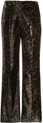 John Richmond Tameside leopard print trousers