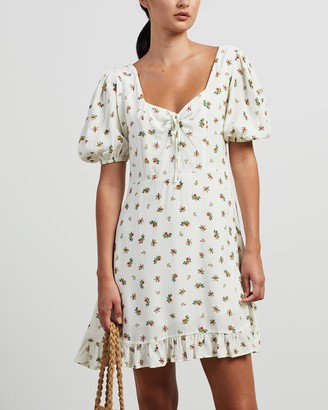 Faithfull The Brand Women's White Mini Dresses - Agathe Mini Dress - Size XS at The Iconic