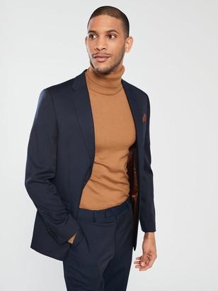 River Island Edward Texture Navy Slim Jacket