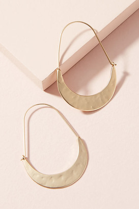Anthropologie Crescent Hoops By in Gold Size ALL
