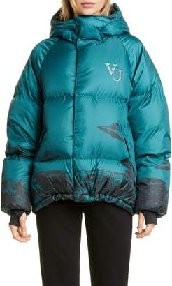 Undercover x Valentino Time Traveler Down Fill Puffer Coat