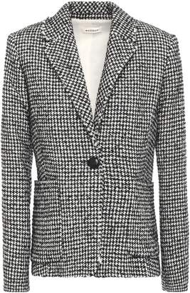Masscob Frayed Houndstooth Wool-blend Boucle-tweed Blazer