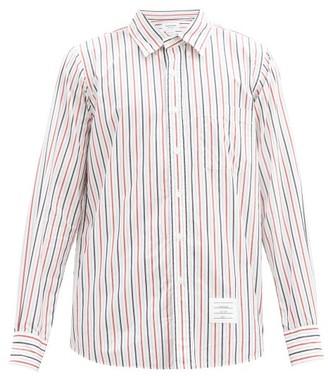 Thom Browne Striped Cotton-poplin Shirt - Multi