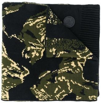 Diesel camouflage motif scarf
