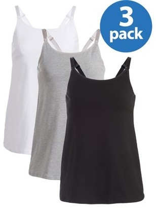 Maternity Loving Moments By Leading Lady Nursing Cami With Built-In Shelf Bra 3 Pack, Style L319