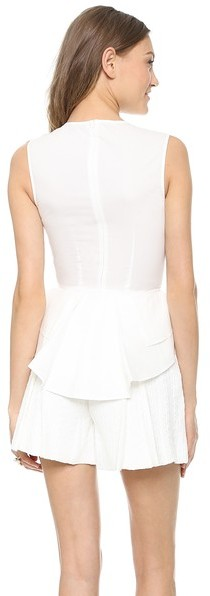 Marchesa Voyage Structured Peplum Shell