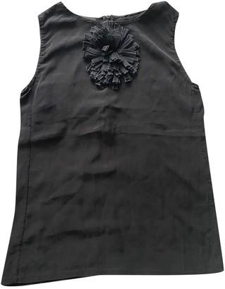 Fendi Black Silk Tops