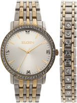 Elgin Mens Two Tone Bracelet Watch-Fg160015ttst