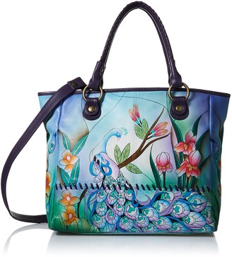 Anna by Anuschka Women's Hand Painted Leather Large Tote