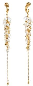 Gurhan 24/22K Yellow Gold Long & Platinum Multi-Gemstone Chandelier Earrings
