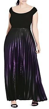 City Chic Plus City Chic Passion Ombre Maxi Dress