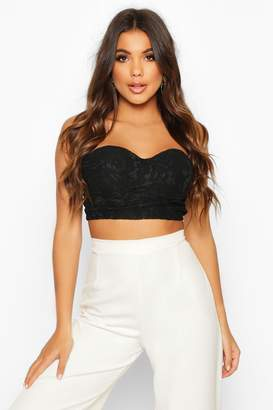boohoo Fitted Lace Bustier