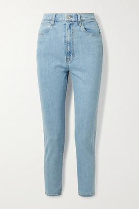 SLVRLAKE Beatnik High-rise Slim-leg Jeans - Light denim