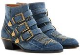 Chloé Kris Denim Ankle Boots