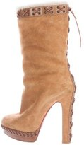 Christian Louboutin Step N Roll Shearling Boots