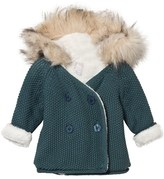 The Little Tailor Teal Teddy-Lined Pixie Jacket with Faux Fur Hood