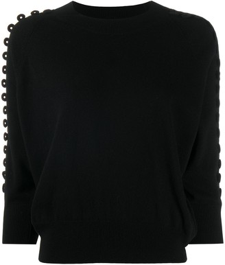 See by Chloe Embroidered 3/4 Sleeve Sweater
