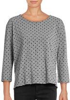 Current Elliott Boxy Polka Dot T-Shirt