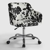Udder Madness Cow Print Velvet Jozy Home Office Chair