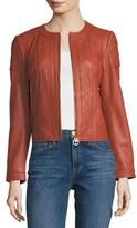 Tory Burch Ryder Quilted Leather Jacket
