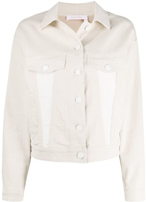 See by Chloe Logo-Print Denim Jacket