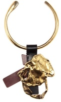 Tom Ford Gold-plated necklace with leather