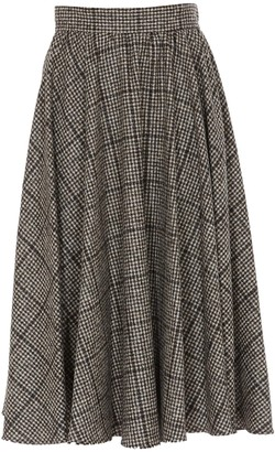 Dolce & Gabbana Checked Flared Skirt